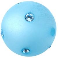 Polaris-Perle Kugel 10 mm, himmelblau m. Swarovski