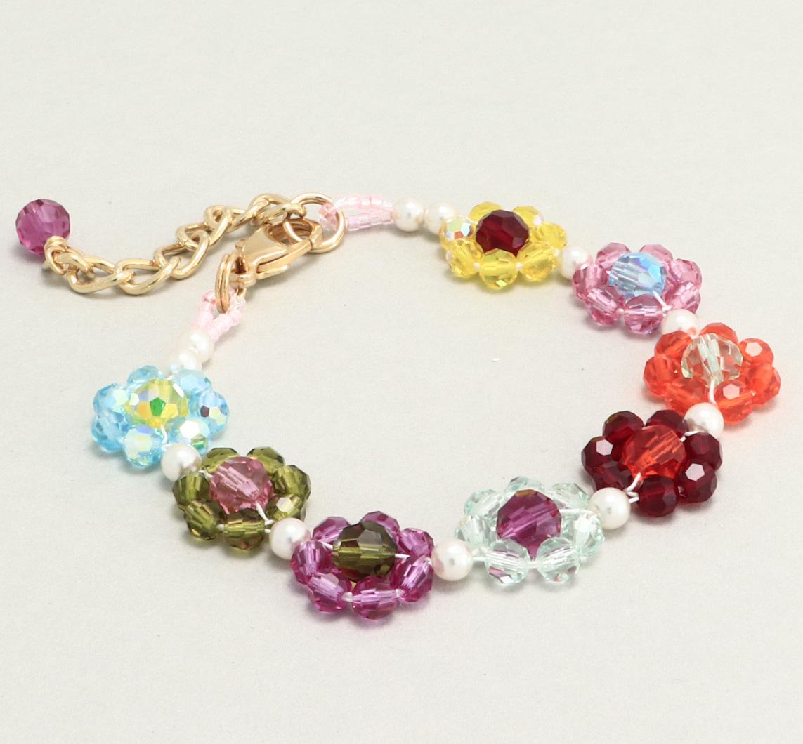 Fädelanleitung Blume aus Perlen