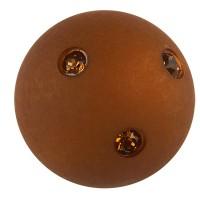 Polaris-Perle Kugel 14 mm, dunkelbraun Swarovski