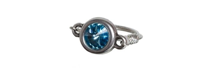 Ring Rivoli-Fassung Aquamarine