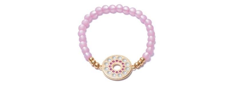 Armband mit Boho Emaille und Polaris Rose