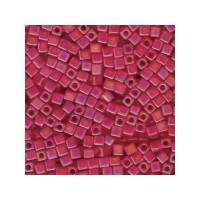 Miyuki Würfel 4 mm, matte tr ruby AB, ca. 20 gr