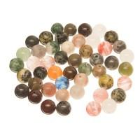 Edelsteinstrang Edelsteinmix, Kugel, 8 mm, multicolor