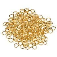 Binderinge, 5 mm, einfach gebogen, goldfarben, 10 Gramm