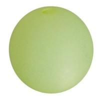 Polarisperle, rund, ca. 14 mm, limone