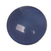Polaris Mosso Cabochon, rund, 12 mm, dunkelblau