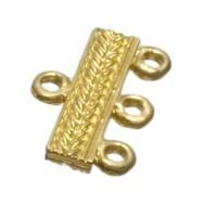 Metallperle Kettenverbinder,ca. 20 mm, vergoldet