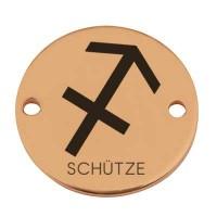 """Coin Armbandverbinder Sternzeichen """"Schütze"""", 15 mm, vergoldet, Motiv lasergraviert"""