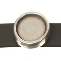 Screws Oberteil, Fassung für Cabochons 12 mm, versilbert