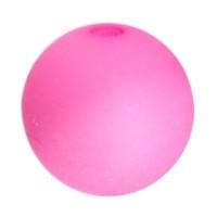 Polarisperle, rund, ca. 8 mm, Neon pink