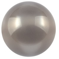 Polarisperle glänzend, rund, ca. 20 mm, dunkelgrau