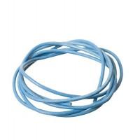 Lederband, 2 mm, Länge 1 m, hellblau