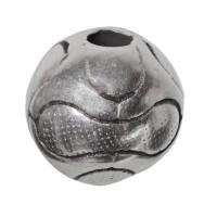 Metallperle Fußball, 12 mm, versilbert