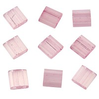 Miyuki Tila Bead 5 mm, silk pale lavender, Röhrchen mit ca. 7,2 gr