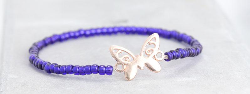 Miyuki-Armband Schmetterling
