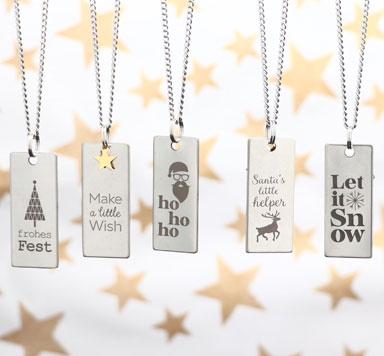 Weihnachtsanhänger für Ketten und als Geschenkanhänger