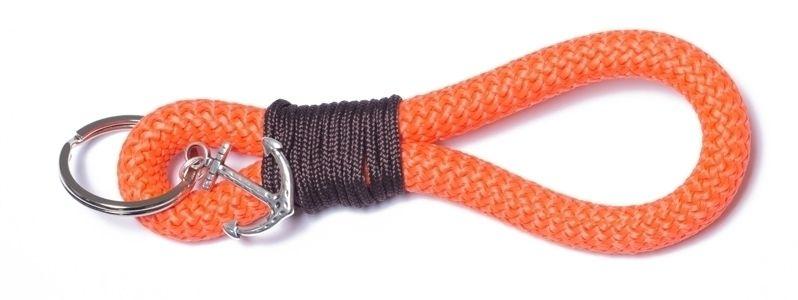 Schlüsselanhänger aus Segelseil Takling-Knoten Orange