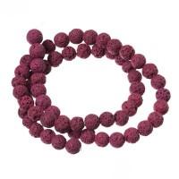 Strang Lavaperlen, rund, 6 mm, pink