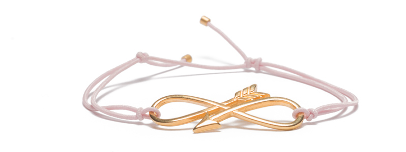 Armband mit Armbandverbinder und Gummiband Infinity