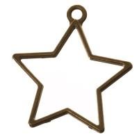 CM Metallanhänger Stern, 35 x 32 mm, bronzefarben