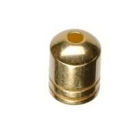 Endkappe ohne Öse, Innendurchmesser 5 mm, vergoldet