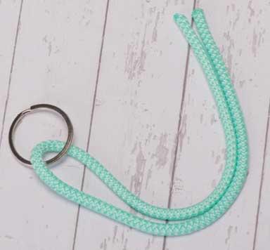 Anleitung Schlüsselanhänger mit Segeltau Achterknoten selber machen