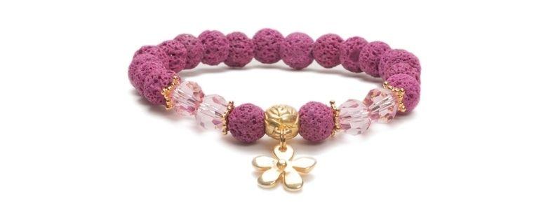 Armband bunte Lava Pink