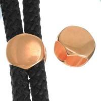 Schieber, rund 12 mm, rosevergoldet, geeignet für 5 mm Segelseil