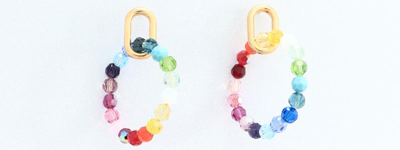 Ohrringe mit Perlen von Preciosa Regenbogen
