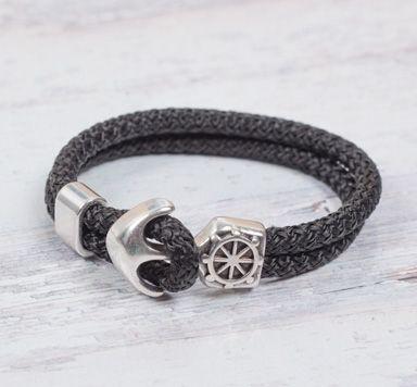 Schmuckanleitungen für selbstgemachte Segelseil-Armbänder mit Ankern