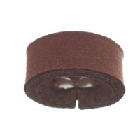 Craft Lederband Schlaufe, 16 mm x 8 mm, Chestnut