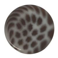 Polaris Cabochon Animalprint Leoprad, rund, flach, 12 mm, weiß-schwarz