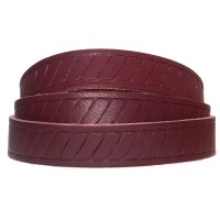 Soft Lederband mit Motiv Classic, 15 x 2 mm, Länge 1 m, dunkelbraun