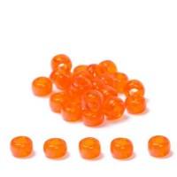 Miyuki Rocailles rund  6/0 (ca. 4 mm), Orange Transparent, 20 gr.