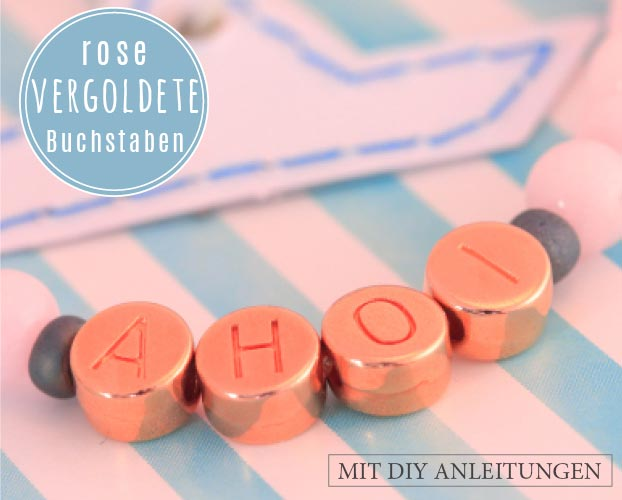 Armbänder mit rose vergoldeten Buchstaben
