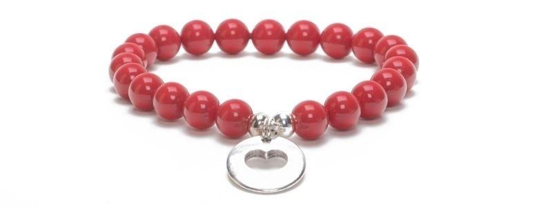 Armband Flame Scarlet mit Swarovski Crystal Pearls
