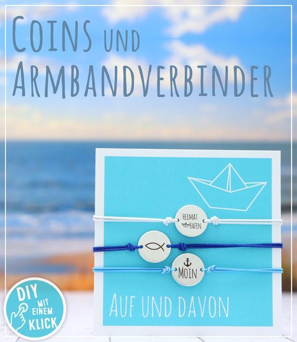 Armbandverbinder und Coins