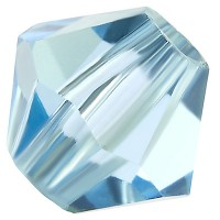Preciosa Rondelle Bead/Bicone, 6 mm, aquamarine