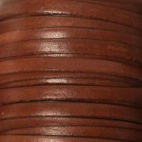 Breites Lederband, 5 mm x 1 mm, Länge 1 m, mittelbraun