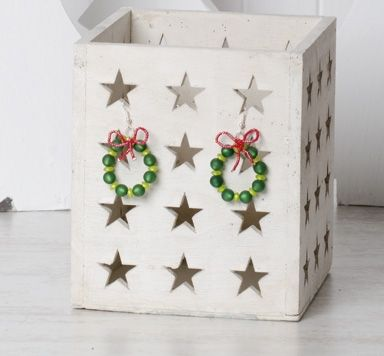 Weihnachtskranz Ohrringe