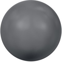 Swarovski Crystal Pearl, rund, 6 mm, dark grey