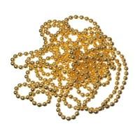 Kugelkette, Durchmesser 1,5 mm, Länge 1 m, goldfarben