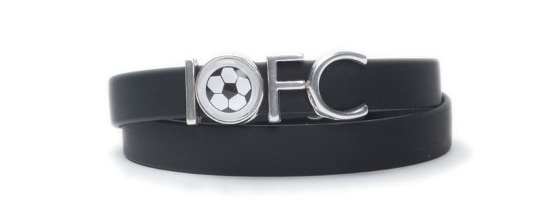 Wickelarmband Fußball 1.FC Schwarz