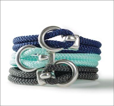 Armband mit Segeltau und Metallverschluss machen
