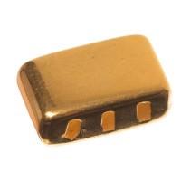 Endkappe für breite Bänder (10 x 2 mm) ohne Öse mit Fädelöffnung, vergoldet