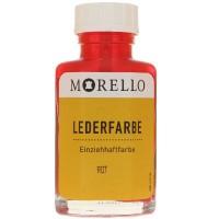 Morello Lederfarbe, Flasche mit Auftragepinsel, 40 ml,  Rot