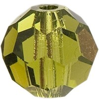 Swarovski Elements, rund, 6 mm,  olivine