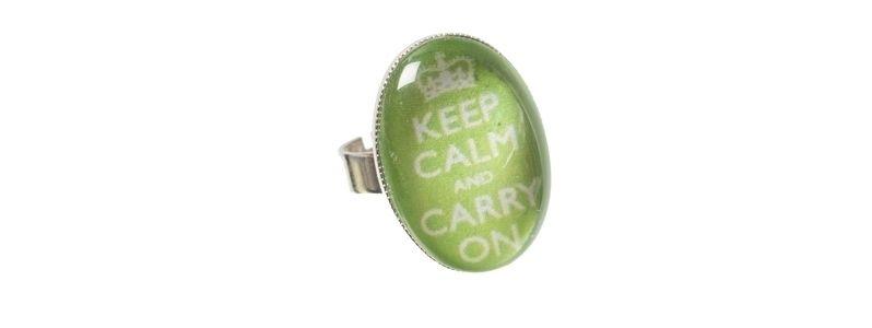Motivring Keep Calm Grün
