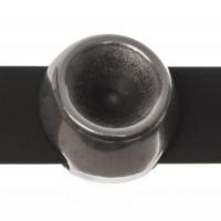 Fassung Slider / Schiebeperle für Swarovski SS39, versilbert, für Bänder mit 10 mm Breite