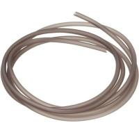 PVC-Schlauch Durchm. 2,5 mm, dunkelgrau, Länge 1 m